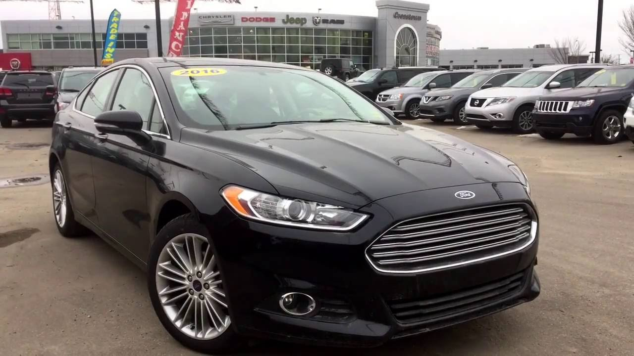 Black Ford Fusion >> 2016 Ford Fusion Se Absolute Black 2 0l Ecoboost Crosstown
