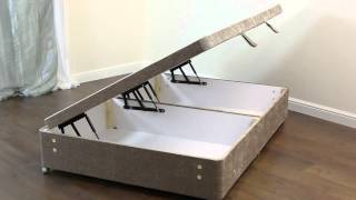 Amber Divan Ottoman Bed Base | Pablo Mink - 3ft, 4ft, 4ft6, 5ft,6ft, Double, Super King