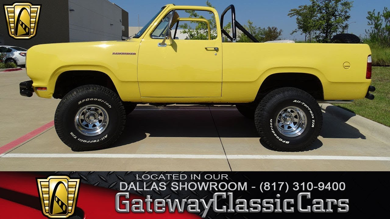 1975 Dodge Ramcharger 501 Dfw Gateway Classic Cars Of Dallas Youtube