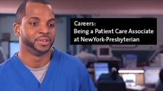 Being a Patient Care Associate at NewYork-Presbyterian