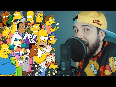 RAP WITH 70 SIMPSONS CHARACTERS