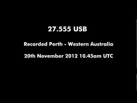 CB 27.555 USB on 20th November 2012 from Perth - Western Australia