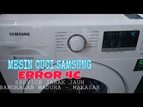 samsung washing machine code 4c
