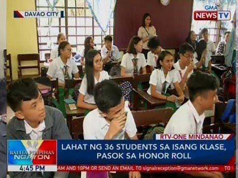 BP: Lahat ng 36 students sa isang klase sa Davao City, pasok sa honor roll