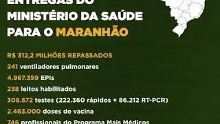 Confira todas entregas no Portal Saúde e mais detalhes nas redes sociais: saude.gov.br/coronavirus