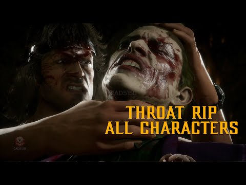 MK11 Rambo Throat Ripping Fatality on All Characters Mortal Kombat 11 Ultimate