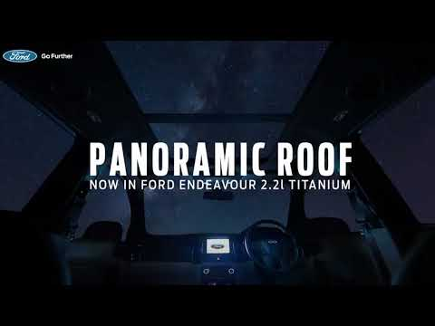 Electric Panoramic Sunroof   Now in Ford...