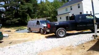 GMC 3500 HD Duramax Diesel pulls out semi-truck