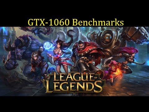 League of Legends | GTX 1060 6GB + FX 8350 | 1080p Max Setting Benchmark / Frame Per Second Test |