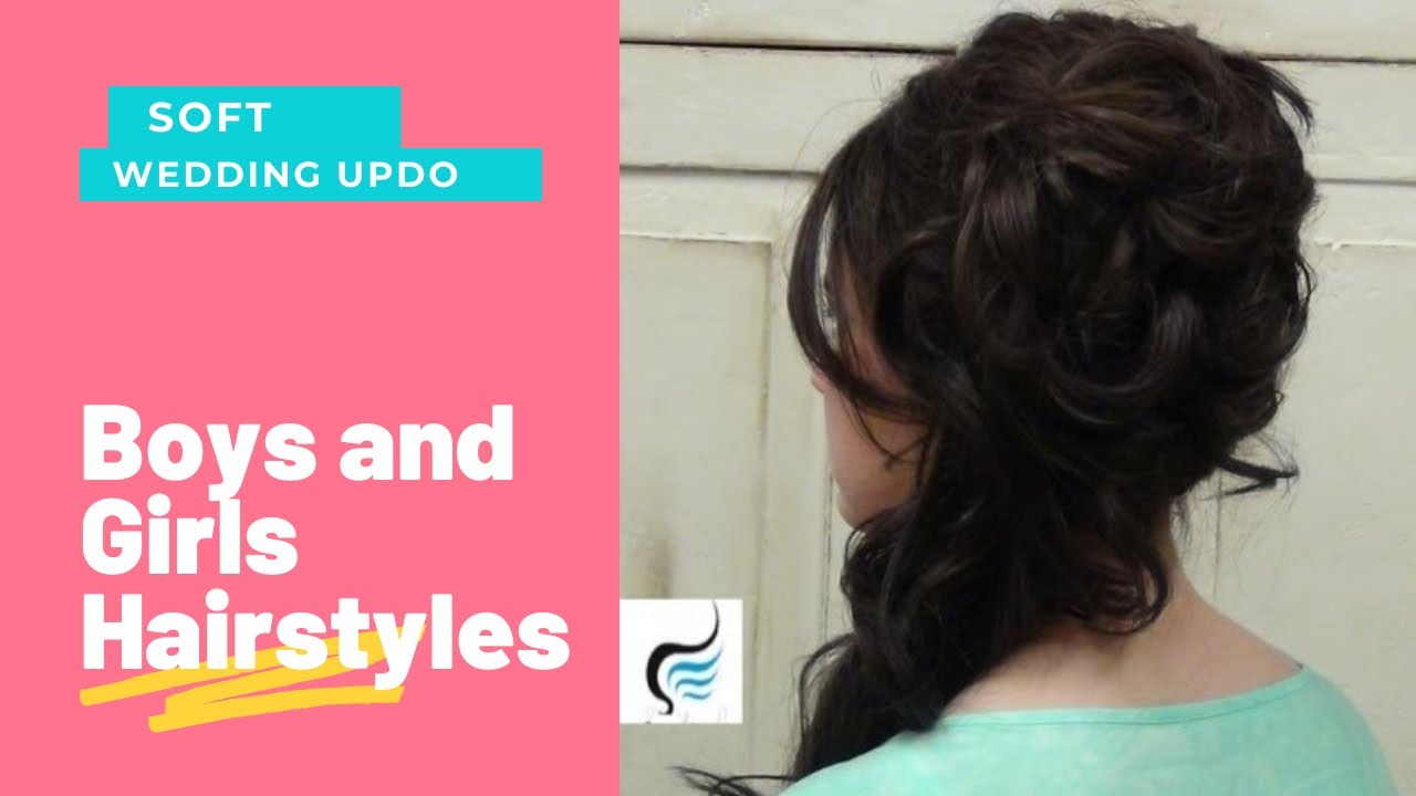 cascading (side updo) for long hair prom or weddings hairstyles