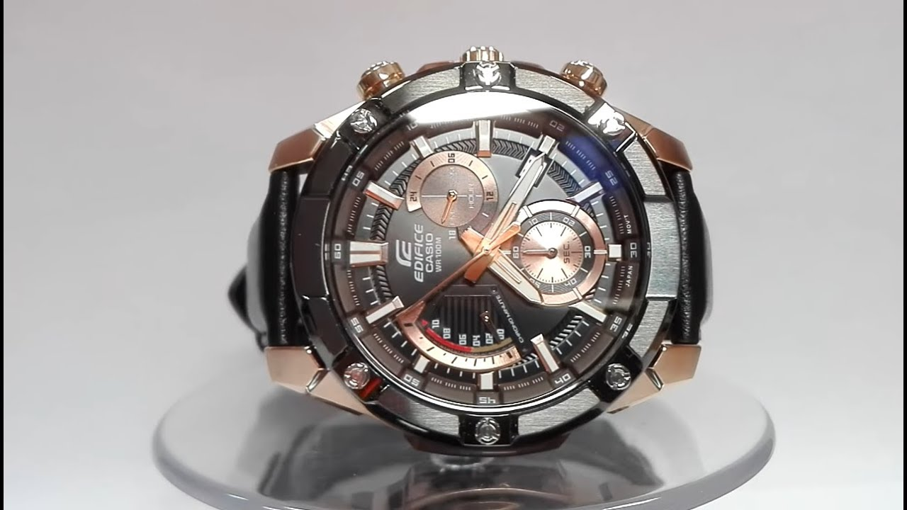0bb8f8f5863f Casio Edifice EFR-559BGL-1AV watch video 2018 - YouTube