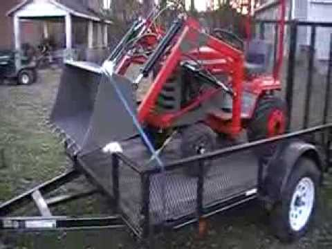 Lawn Tractor Diesel Conversion And Simple Loader Doovi