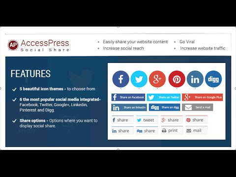 Free WordPress Social Share Plugin AccessPress Social Share - Plugin  Configuration | WordPress Blog - YouTube