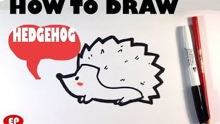 How to Draw a Hedgehog (Cute) - Easy Pictures to Draw