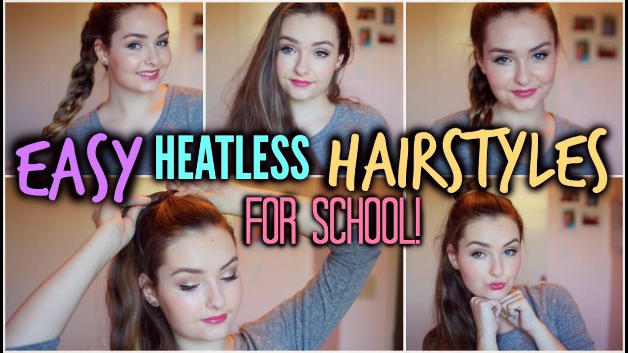 Heatless Hair Styles: Easy Heatless Hairstyles For School!