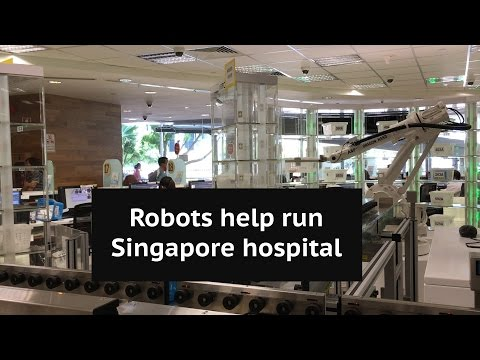A Singapore hospital uses robots to de-stress workers