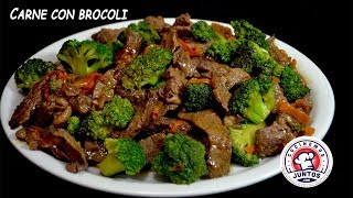 Como hacer Carne con Brocoli  Rica comida China