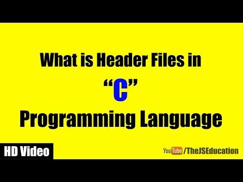 Header Files In C Programming Language | HD Video Tutorial