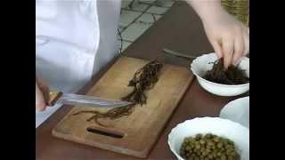 Постная кухня. Салат из морской капусты от повара семинарской трапезной.