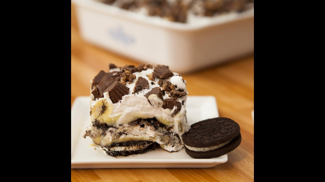 peanut butter oreo lasagna the cake of dinners youtube