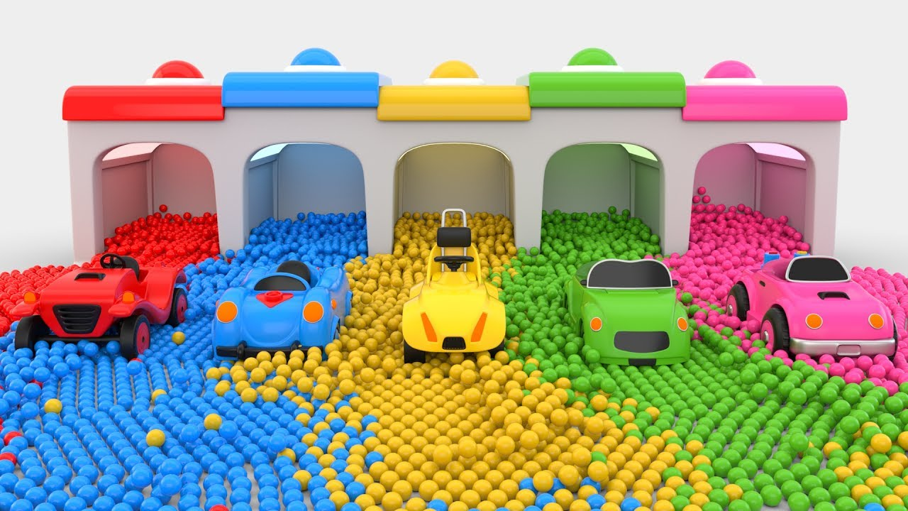 Colors For Children To Learn With Cars Toys Colors