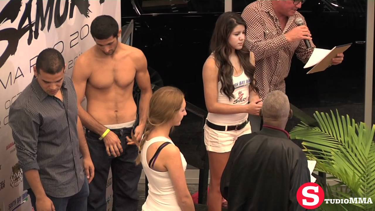 image Cfnm naked weighin with woman checking out naked guy