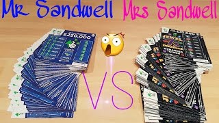 Mr & Mrs Sandwell Scratchcard scratch Off