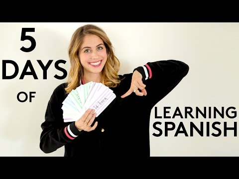 5 Days Of Learning Spanish And How To Practice Everyday | Try Living With Lucie | Refinery29