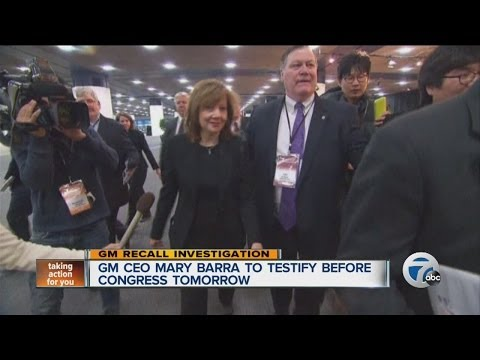 GM CEO Mary Barra to testify before Congress on Tuesday