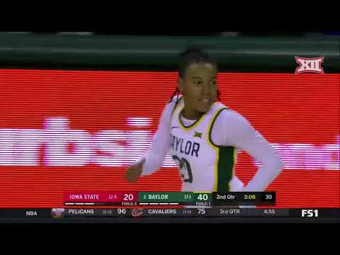 Iowa State At Baylor Women's Basketball Highlights