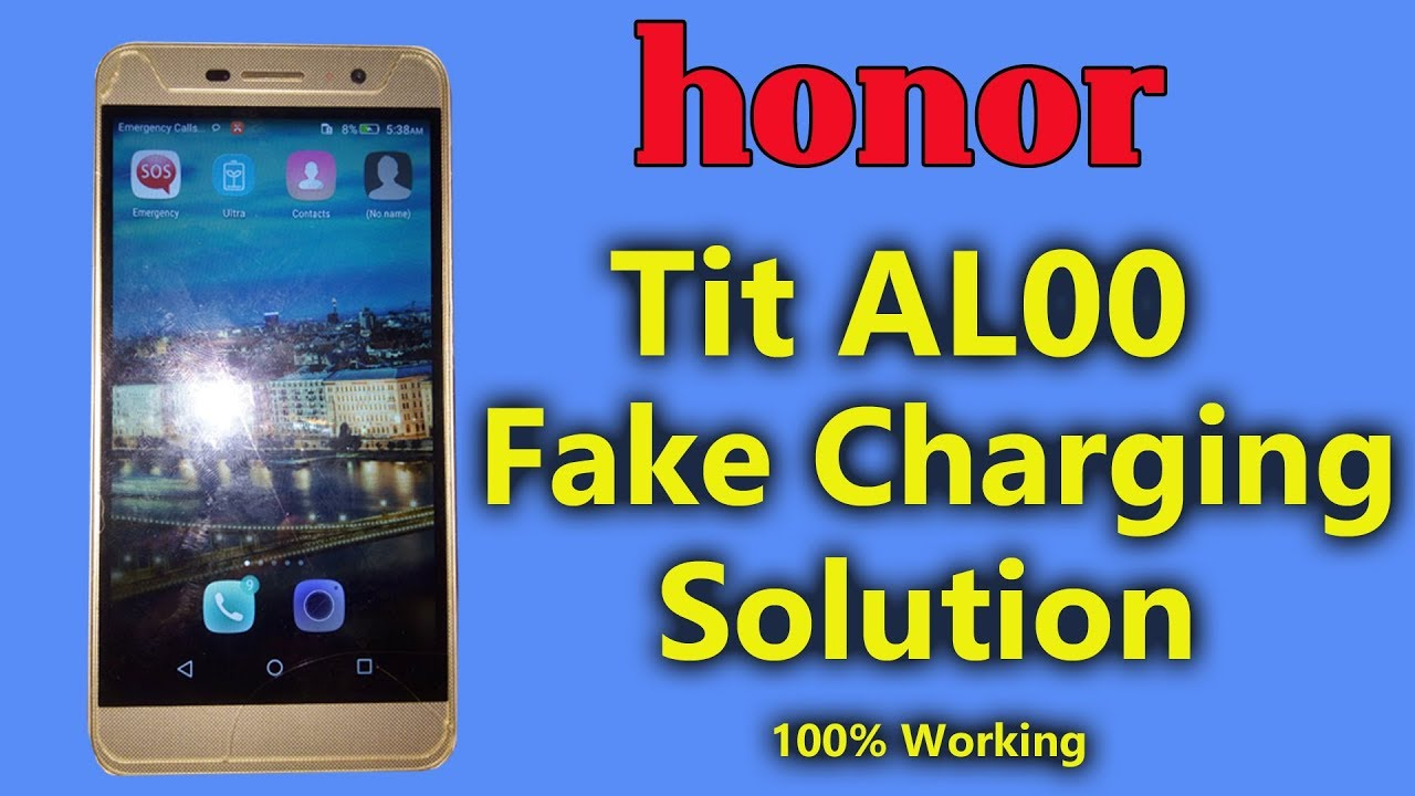 Honor Tit AL00 Fake Charging Solution 100% Working