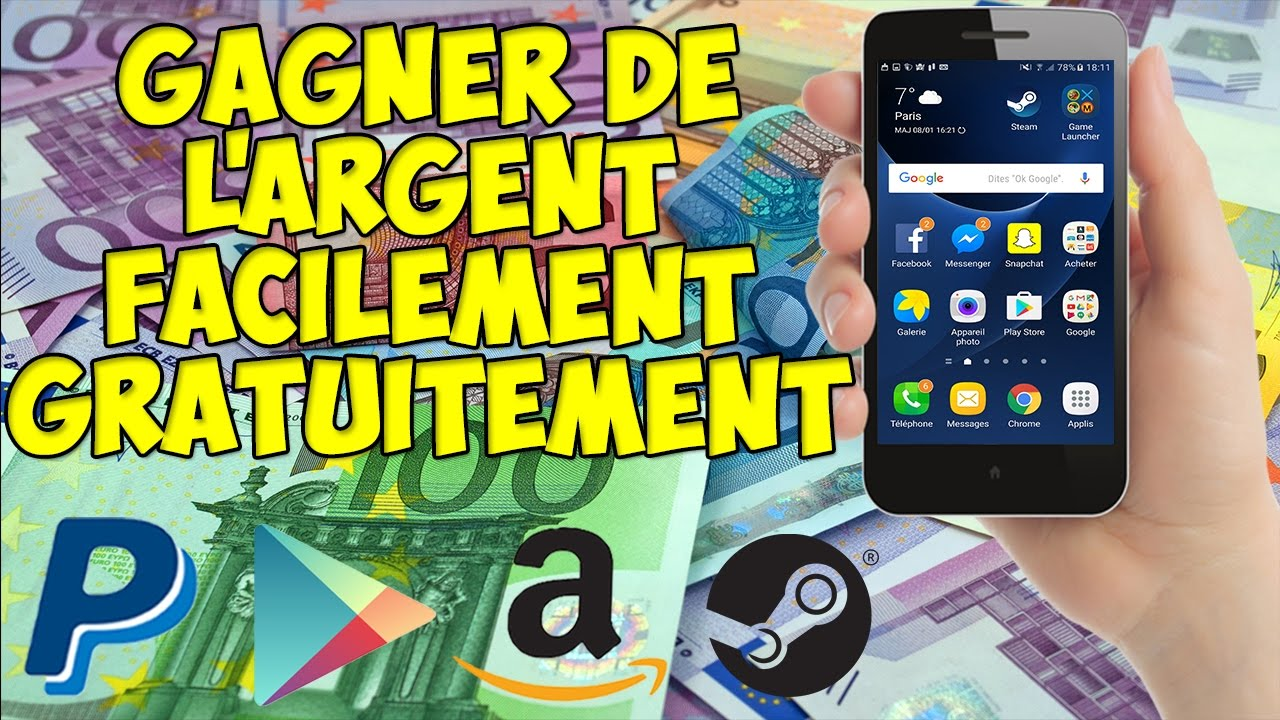 comment gagner de l 39 argent gratuitement et facilement android et ios fr en youtube. Black Bedroom Furniture Sets. Home Design Ideas