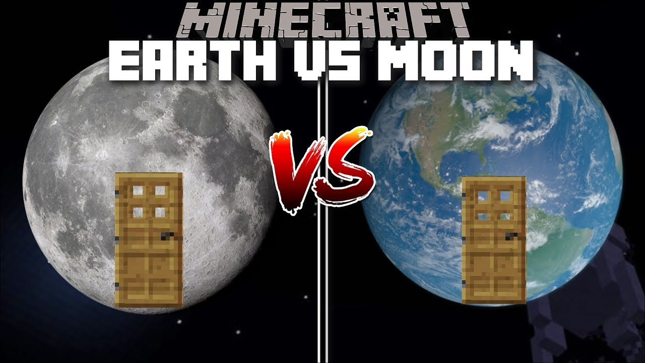 Minecraft EARTH HOUSE VS MOON HOUSE MOD / BUILD YOUR OWN HOUSE AND SURVIVE  IN IT !! Minecraft