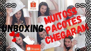 SHOPEE/UNBOXING/MUITOS PACOTES CHEGANDO/CRIS GALLO