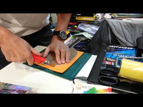 Professional Guide to Gluing Table Tennis Rubber (English Narration)
