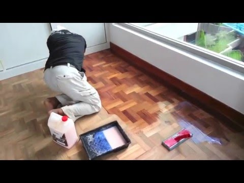 How To Refinish Old Hardwood Parquet Floor Step By Using Drum Belt Sander