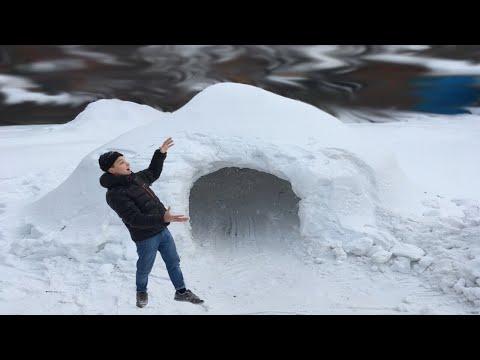 КРУТОЙ ДОМ ИЗ СНЕГА. ЭПИК ФОРТ ИЗ СНЕГА ! Fort Challenge Гигантский форт!!! Снежная ИГЛУ