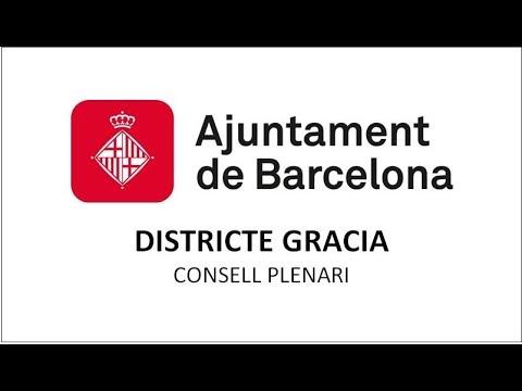 CONSELL PLENARI DISTRICTE  DE GRÀCIA 24/07/2019