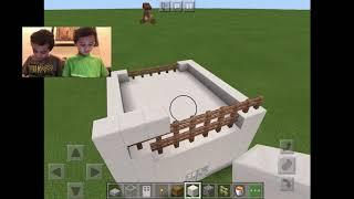 Minecraft: HowTo Build a Quartz Mansion. Azaan \u0026 Taha. Kid-friendly video.