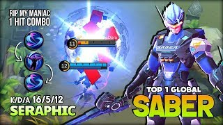 7040 Match of Saber! Perfect Enemy Lock by sᴇʀᴀᴘʜɪᴄ Top 1 Global Saber ~ Mobile Legends