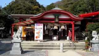 山陽小野田市の熊野神社の風景 山口県