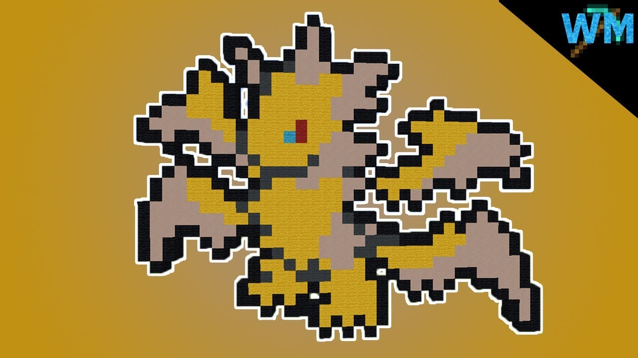 Minecraft Pixel Art Ultra Necrozma Mini Sprite