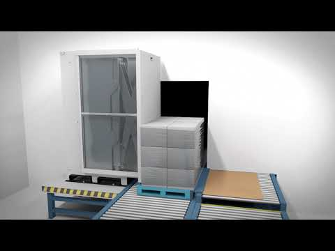 Automatically Transfer Of Palletized Goods To Slip-sheets