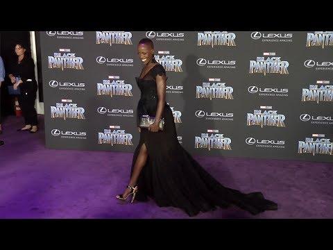 """Florence Kasumba """"Black Panther"""" World Premiere Purple Carpet"""