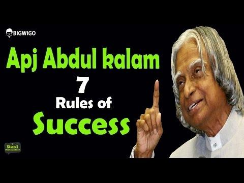 Apj Abdul Kalam 7 Rules of Success Inspirational Speech | Motivational Interviews