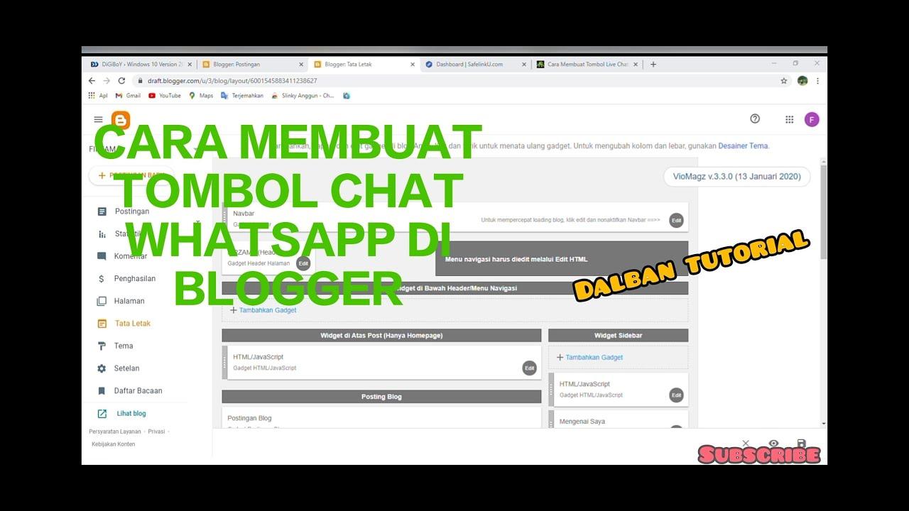 Cara Membuat Tombol Live Chat Whatsapp Melayang Di Blog Sewa Laptop Komputer Multimedia Dan Tutorial
