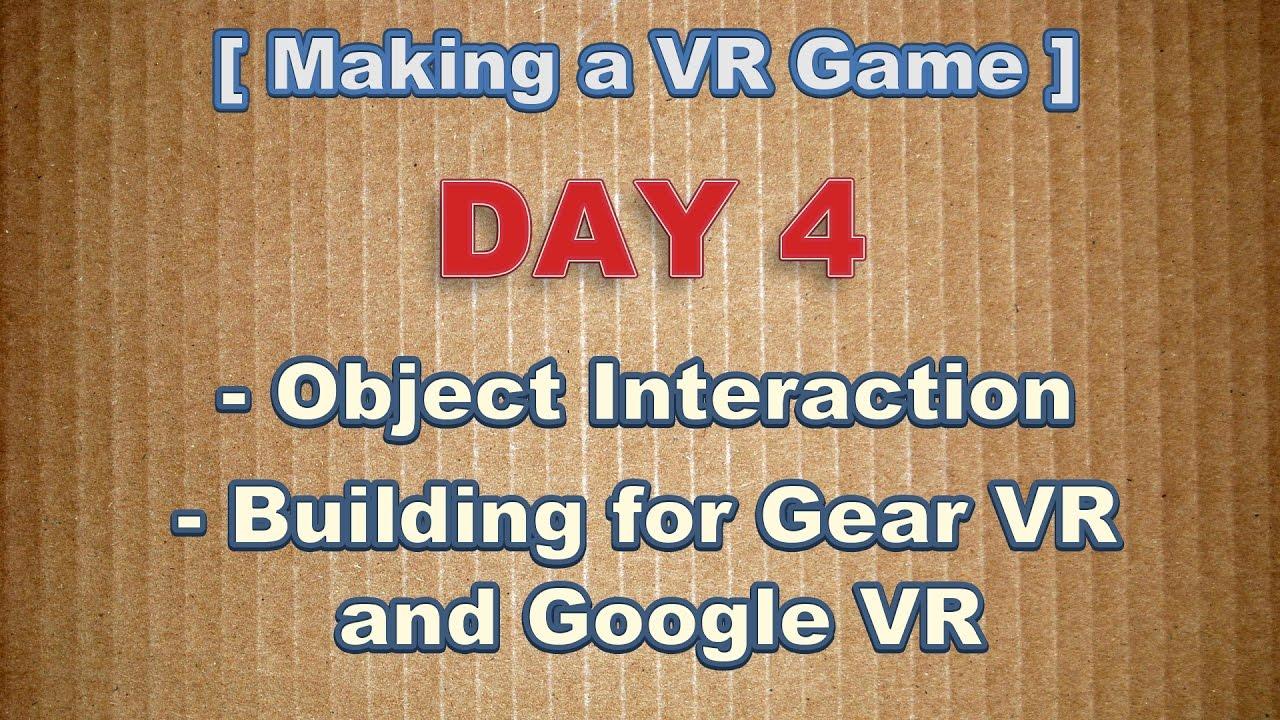 Cross-platform VR development: GearVR and Daydream - Unity Forum