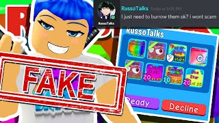 FAKE RUSSOPLAYS BULLY IS SCAMMING NOOB PLAYERS SECRET PETS IN ROBLOX BUBBLEGUM SIMULATOR