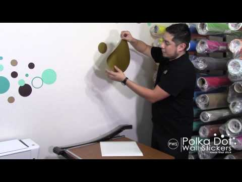 How To Apply Polka Dot Wall Decals