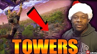 TILTED TOWER ENEMIES   FORTNITE BATTLE ROYAL   Getting W's with squads   XBOX ONE   @Natepushweights